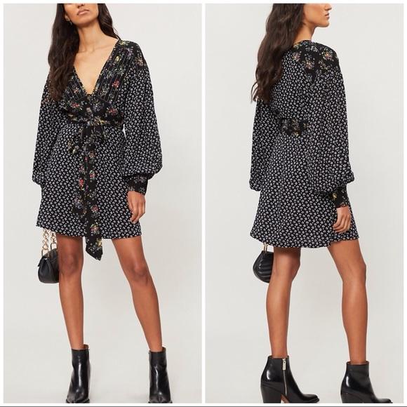 e80dcd2dd45a Free People Dresses | Hp Wonderland Mini Dress In Black | Poshmark